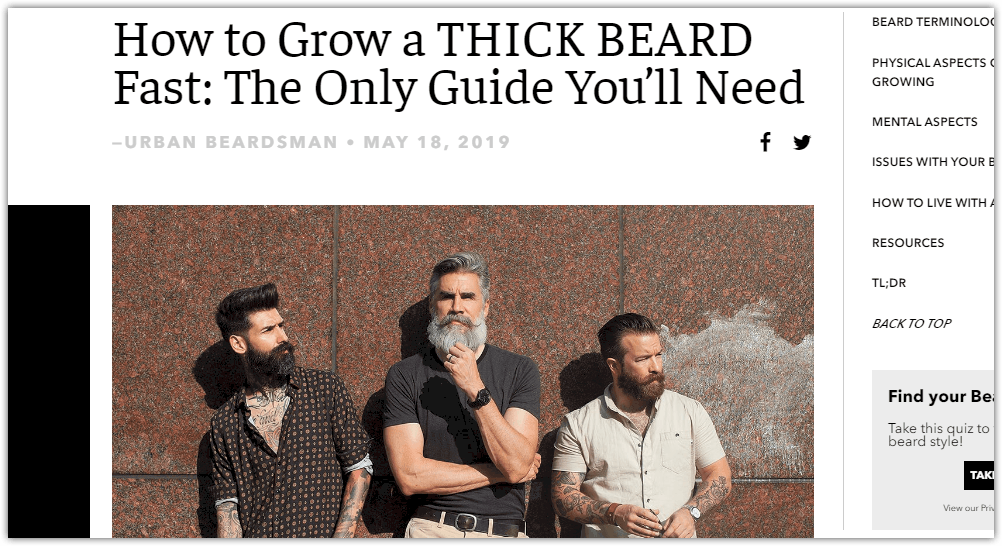 Beardbrand blog post