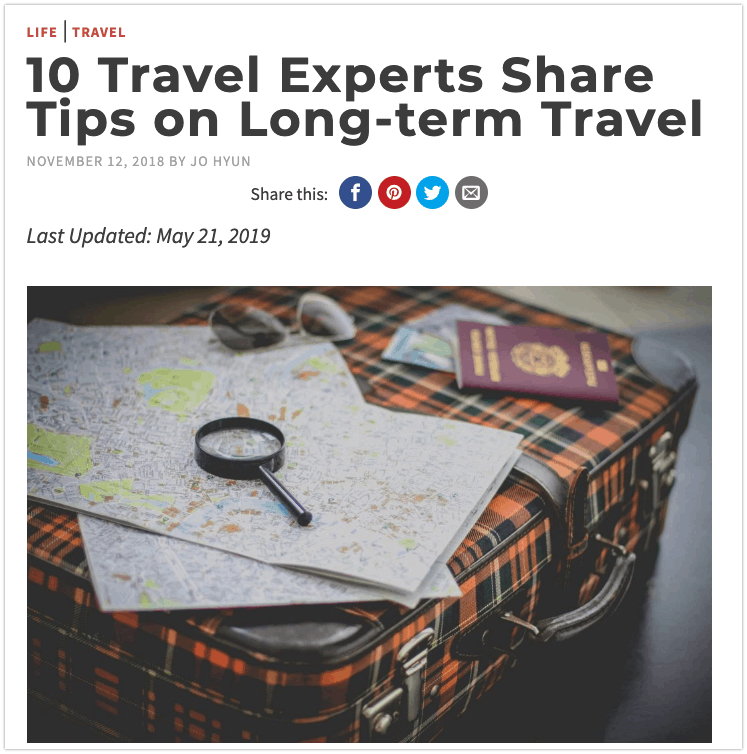 Travel expert roundup