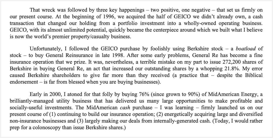 Berkshire Hathaway Letter to Shareholders 2016