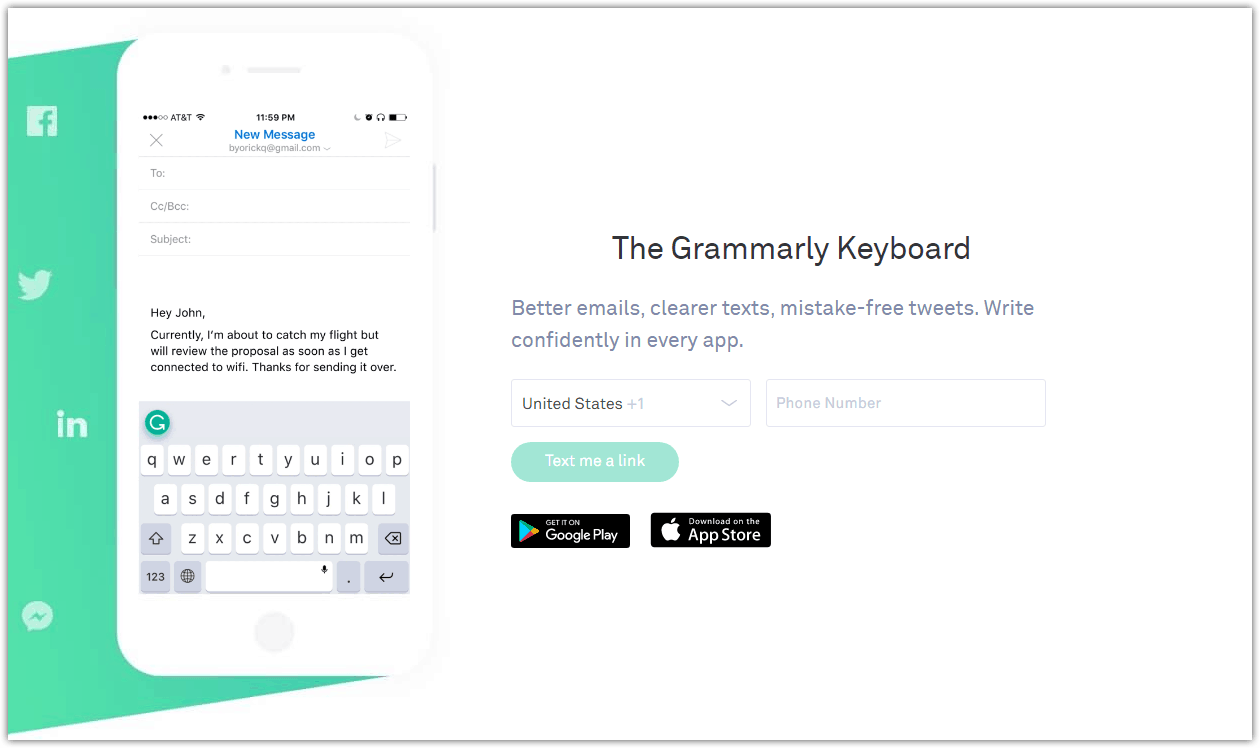 Grammarly Free Mobile Keyboard