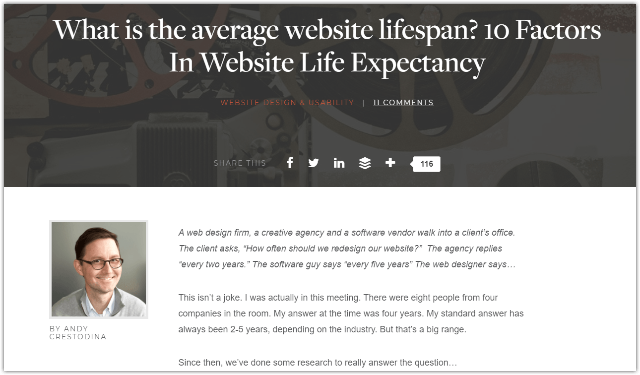 Orbit Media Average Website Lifespan